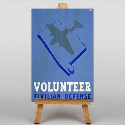 Big Box Art Volunteer Civilian Defense Graphic Art on Canvas