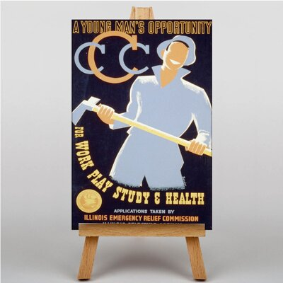 Big Box Art Men's Opportunity Vintage Advertisement on Canvas