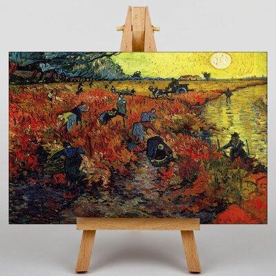 Big Box Art The Red Vineyards Arles by Vincent Van Gogh Art Print on Canvas