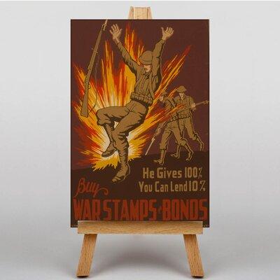 Big Box Art War Stamp Bonds Vintage Advertisement on Canvas