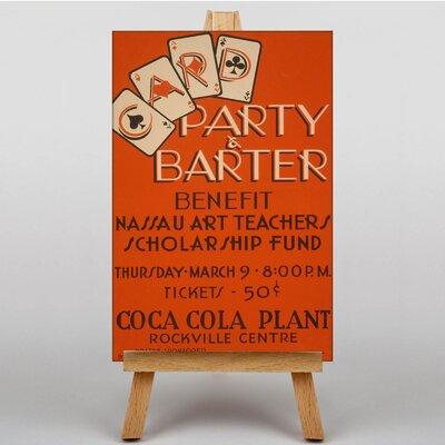 Big Box Art Party Barter Vintage Advertisement on Canvas