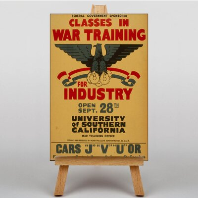 Big Box Art War Training Vintage Advertisement on Canvas