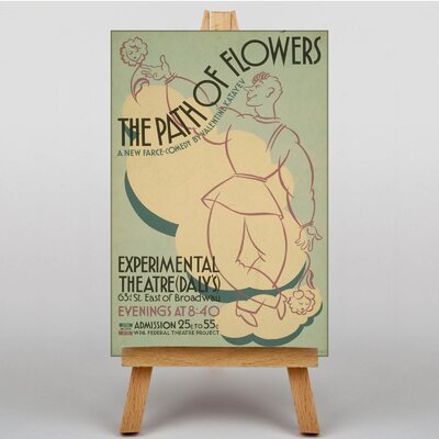 Big Box Art Path of Flowers Vintage Advertisement on Canvas