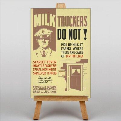 Big Box Art Milk Truckers Vintage Advertisement on Canvas