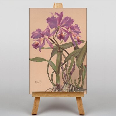 Big Box Art Purple Flowers by Alice Bailly Art Print on Canvas