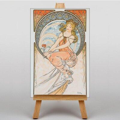 Big Box Art Flower in Hand by Alphonse Mucha Graphic Art on Canvas