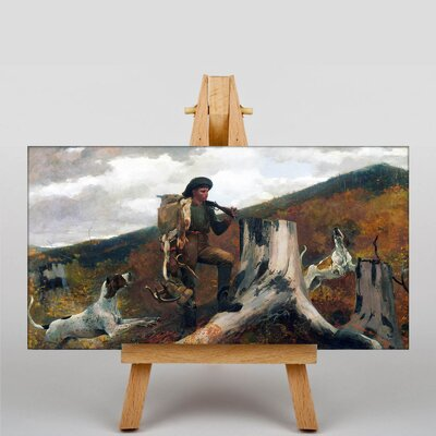 Big Box Art A Huntsman and Dogs by Winslow Homer Art Print on Canvas