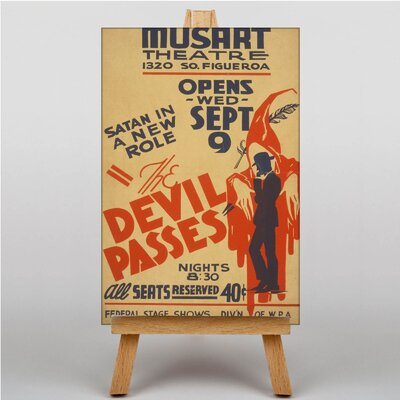 Big Box Art The Devil Passes No.1 Vintage Advertisement on Canvas