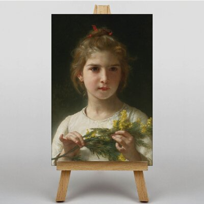 Big Box Art Mimosa Flower Girl by William Adolphe Bouguereau Art Print on Canvas