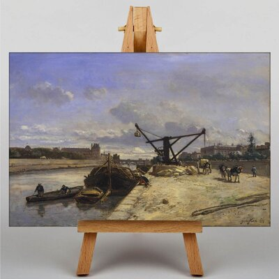 Big Box Art View from the Quai d'Orsay by Johan Jongkind Art Print on Canvas