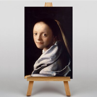 Big Box Art Study of a young Woman by Johannes Vermeer Art Print on Canvas