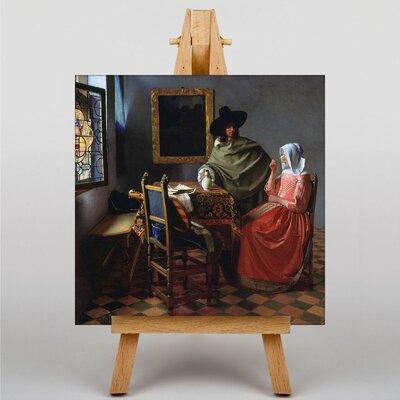 Big Box Art The Glass of Wine by Johannes Vermeer Art Print on Canvas