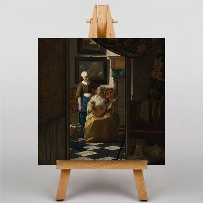 Big Box Art The Love Letter by Johannes Vermeer Art Print on Canvas