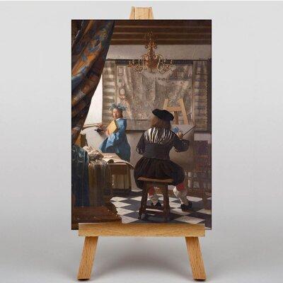 Big Box Art Van Delft by Johannes Vermeer Art Print on Canvas