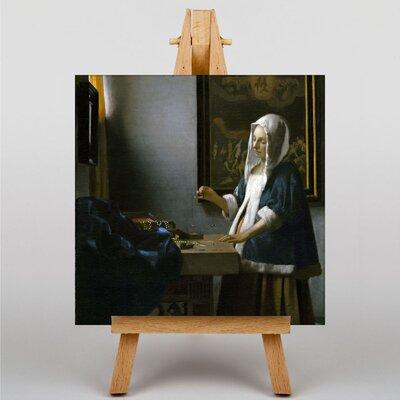 Big Box Art Woman Holding a Balance by Johannes Vermeer Art Print on Canvas