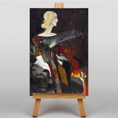 Big Box Art Madonna with Machine Gun by Karlis Padegs Art Print on Canvas