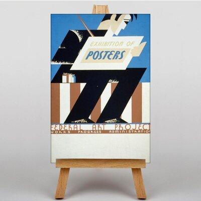 Big Box Art Exhibition Vintage Advertisement on Canvas