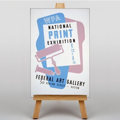 Big Box Art Exhibition No.19 Vintage Advertisement on Canvas