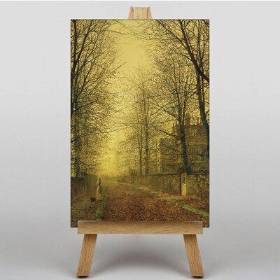 Big Box Art Autumns Golden Glow by John Atkinson Grimshaw Art Print on Canvas