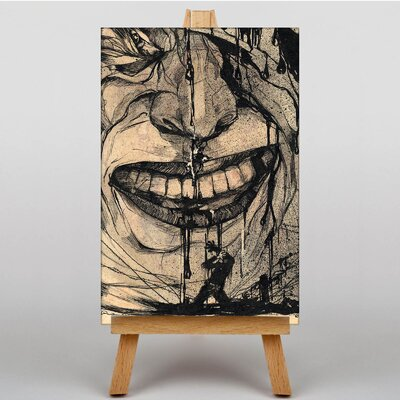 Big Box Art Red Laughter by Karlis Padegs Art Print on Canvas