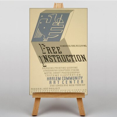 Big Box Art Free Instruction Vintage Advertisement on Canvas