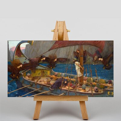 Big Box Art Waterhouse Ulises and the Sirens by John William Art Print on Canvas