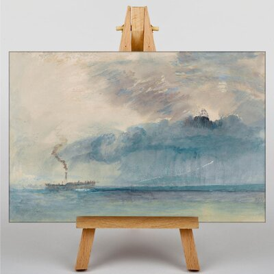 Big Box Art A Paddle Steamer by Joseph Mallord William Turner Art Print on Canvas