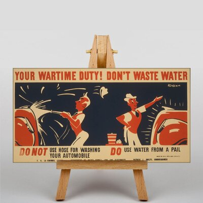 Big Box Art Don't Waste Water No.2 Vintage Advertisement on Canvas