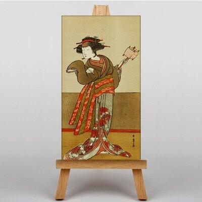 Big Box Art Vintage Japanese Oriental No.1 by Katsuwaka Shunso Graphic Art on Canvas