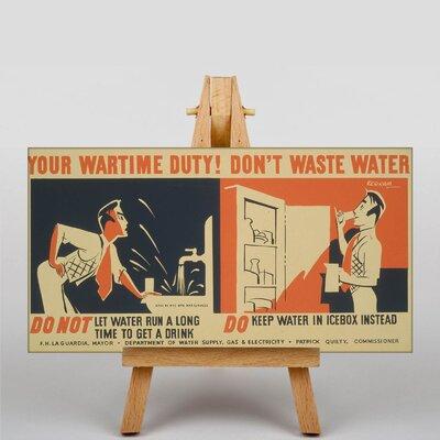 Big Box Art Don't Waste Water No.3 Vintage Advertisement on Canvas