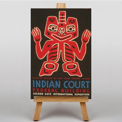 Big Box Art Indian Court No.4 Vintage Advertisement on Canvas