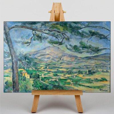 Big Box Art Montagne Sainte Victoire No.5 by Paul Cezanne Art Print on Canvas