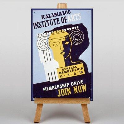 Big Box Art Institute of Arts Vintage Advertisement on Canvas