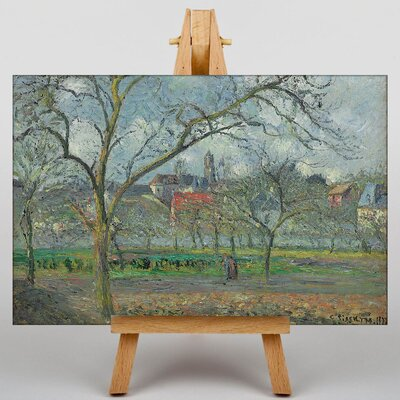 Big Box Art Laumone in Winter by Camille Pissaro Art Print on Canvas