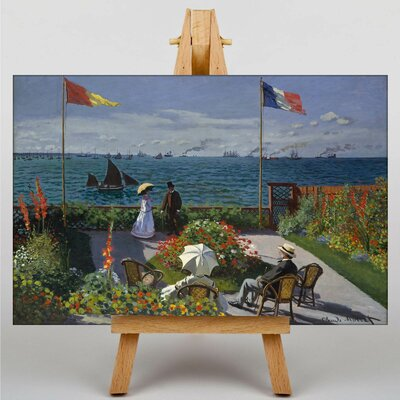 Big Box Art Jardin Sainte Adresse by Claude Monet Art Print on Canvas