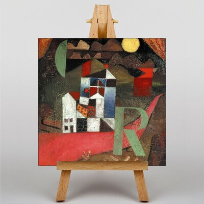 Big Box Art The Letter R by Paul Klee Art Print on Canvas