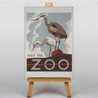 Big Box Art Visit the Zoo No.2 Vintage Advertisement on Canvas