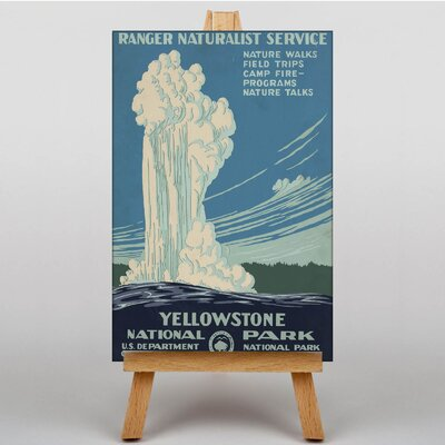 Big Box Art Yellowstone National Park Vintage Advertisement on Canvas