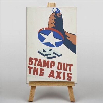 Big Box Art Stamp Out the Axis Vintage Advertisement on Canvas