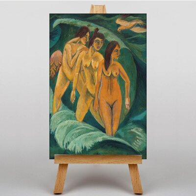 Big Box Art Three Bathers by Ernst Ludwig Kirchner Art Print on Canvas