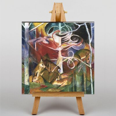 Big Box Art Deers in the Forest by Franz Marc Art Print on Canvas