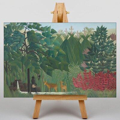 Big Box Art Two Deer by Henri Rousseau Art Print on Canvas