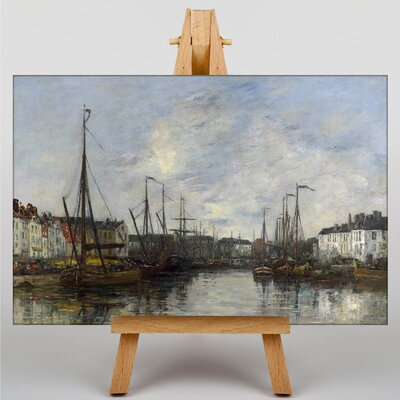 Big Box Art Brussels Harbour by Eugene Boudin Art Print on Canvas