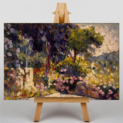 Big Box Art Flowered Terrace by Henri-Edmond Cross Art Print on Canvas