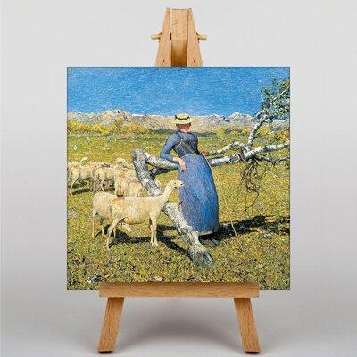 Big Box Art High Noon in the Alps by Giovanni Segantini Art Print on Canvas