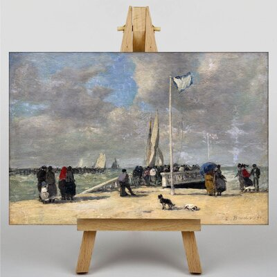 Big Box Art On The Jetty by Eugene Boudin Art Print on Canvas