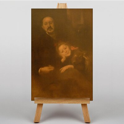 Big Box Art Fathe with Daughter by Eugene Carriere Art Print on Canvas