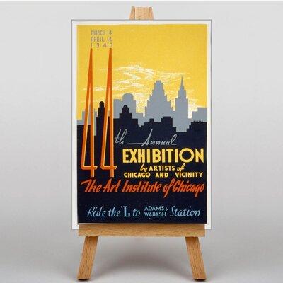 Big Box Art Exhibition No.50 Vintage Advertisement on Canvas