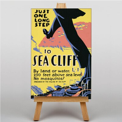 Big Box Art Visit Sea Cliff No.2 Vintage Advertisement on Canvas