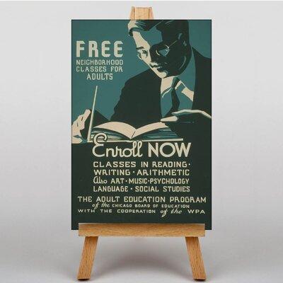 Big Box Art Enroll Now Vintage Advertisement on Canvas